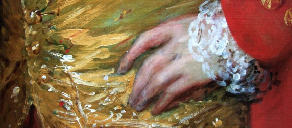 Thomas Gainsborough hand detail